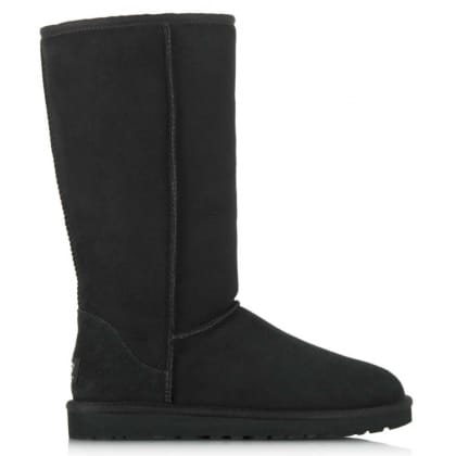 UGG Kids Classic Black Tall Sheepskin Boot