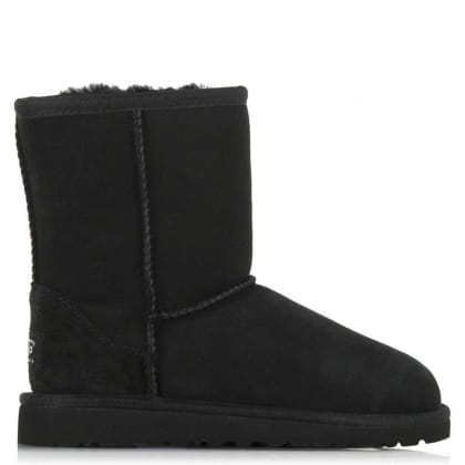 UGG® Australia Authorised Retailer Kids Classic Black Suede Kids Boot