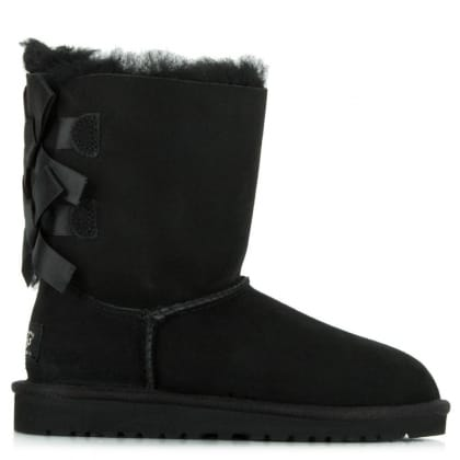 UGG Kids Bailey Bow Black Twinface Boot