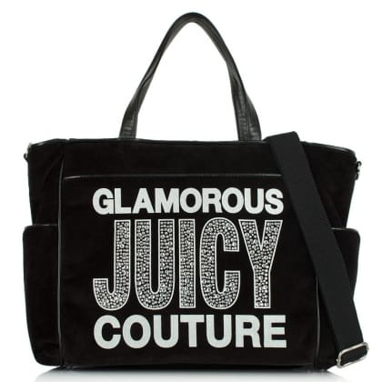 Juicy Couture Glam Goddess Black Velour Baby Bag