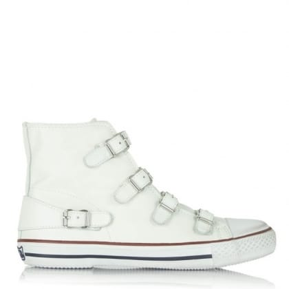 Ash Virgin Bis White Leather High Top Trainer