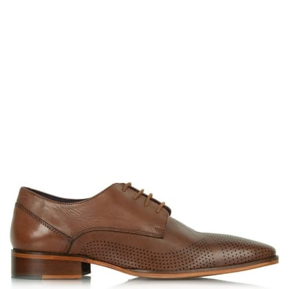 Daniel Jay Jay 272 Tan Leather Perforated Lace Up Shoe