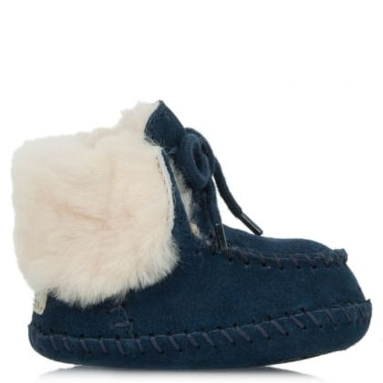UGG® Australia Authorised Retailer Kid's Sparrow New Navy Suede Moccasin Boot