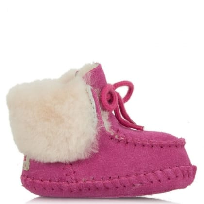 UGG® Australia Authorised Retailer Kid's Sparrow Princess Pink Suede Moccasin Boot