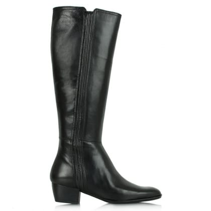 Lamica Acimal 52 Black Leather Knee High Boot