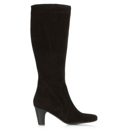 Lamica Acimal 64 Black Suede Knee High Boot