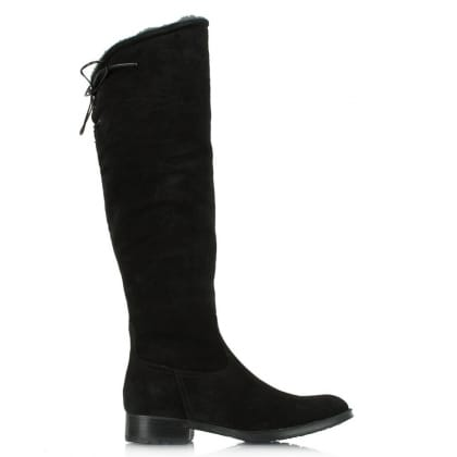 Lamica Acimal 50 Black Suede Knee High Boot