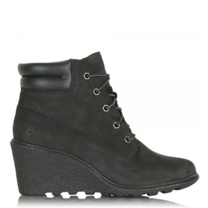 Timberland Black Amston Wedge Women's Ankle Boot
