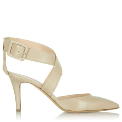 Daniel Maida Vale Nude Leather Cut Out Shoe