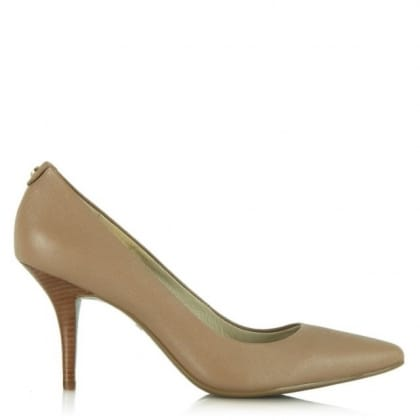 Michael Kors Flex MidBeige Leather Pointed Pump