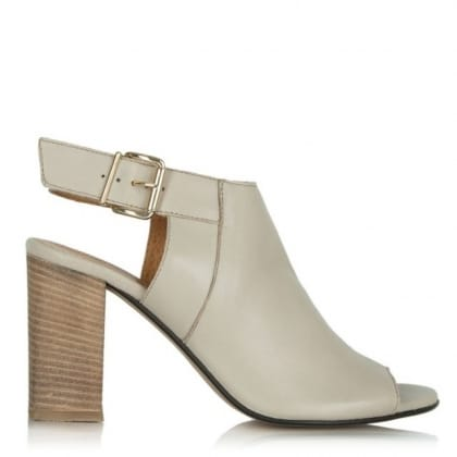 Daniel Flaunter Taupe Leather Sling Back Sandal