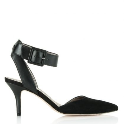 Sam Edelman Okala Black Suede Pointed Toe Shoe