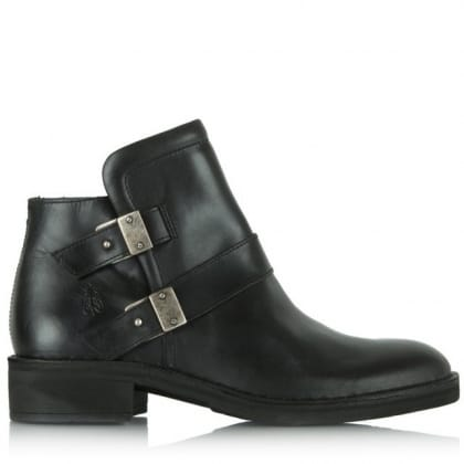 Fly London Black Fly Flan Ankle Boot