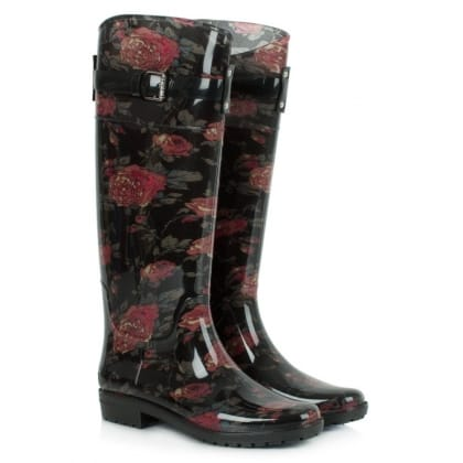 Floral Wellies - Daniel Footwear