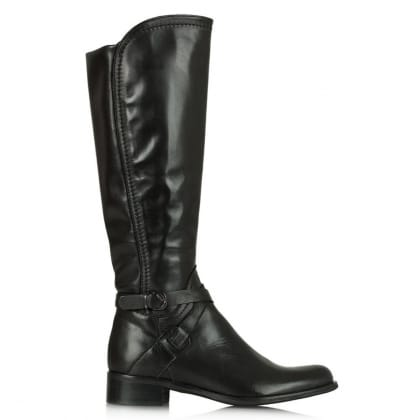Daniel Idil Black Leather Knee Boot