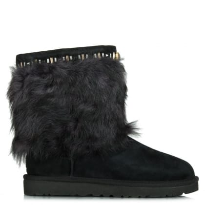 UGG® Australia Authorised Retailer Vilet Black Suede Toscana Gem Embellished Ankle Boot