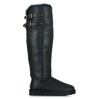 UGG® Australia Authorised Retailer Devandra Black Over The Knee Boot