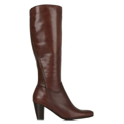 Lamica Acimal 81 Burgundy Leather Knee High Boot