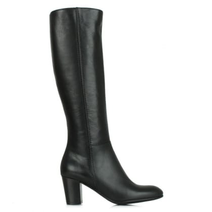 Lamica Acimal 76 Black Leather Knee High Boot