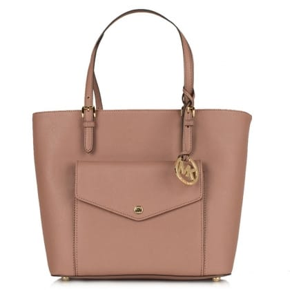 Michael Kors Jetset Large Pocket Dusty Pink Leather Multi-Functional Tote Bag