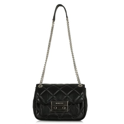 Michael Kors Sloan Quilted Black Leather Shoulder Bag