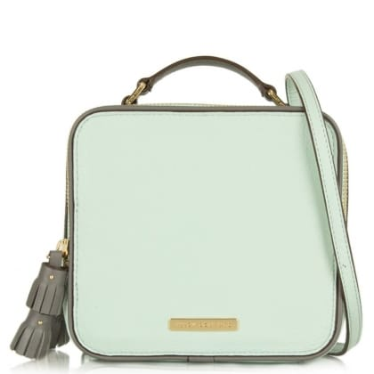 Juicy Couture Continental Mint Leather Crossbody Bag
