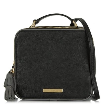 Juicy Couture Continental Black Leather Crossbody Bag
