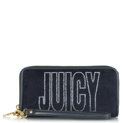 Juicy Couture Crown Navy Wrist-Let Wallet