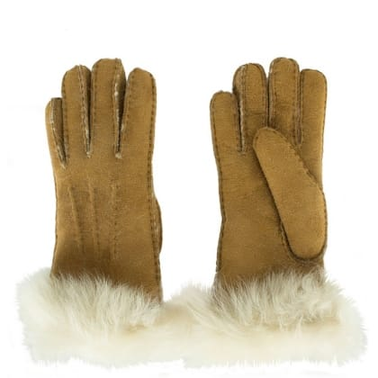 UGG Toscana Chestnut Sheepskin Shearling Gloves