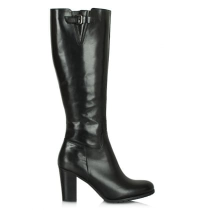 Lamica Acimal 100 Black Leather Knee Boot