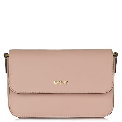 DKNY Rosie Rose Saffiano Leather Flap Front Crossbody Bag