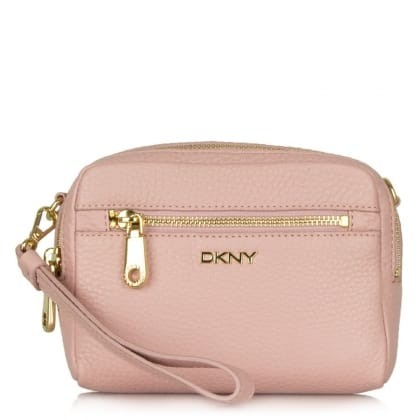 DKNY Lily Rose Pebbled Leather Box Messenger Bag