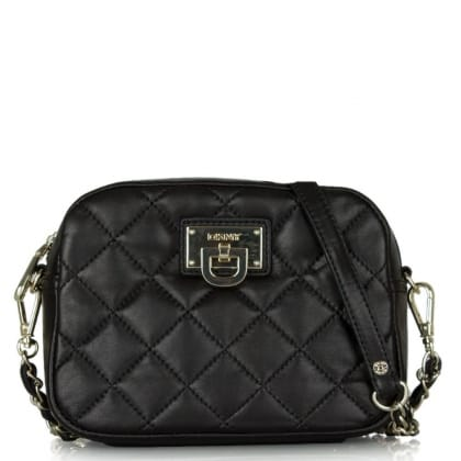 DKNY Kandy 81 Black Leather Small Quilted Crossbody Bag