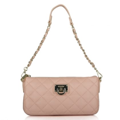 DKNY Kandy 80 Pink Leather Small Quilted Crossbody Bag