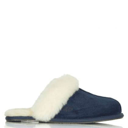 UGG® Australia Authorised Retailer Scuffette Navy Suede Women's Slipper