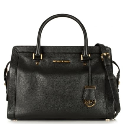 Michael Kors Collins Black Leather Large Tote