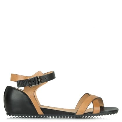 Lamica Acimal 115 Tan & Black Leather Sandal