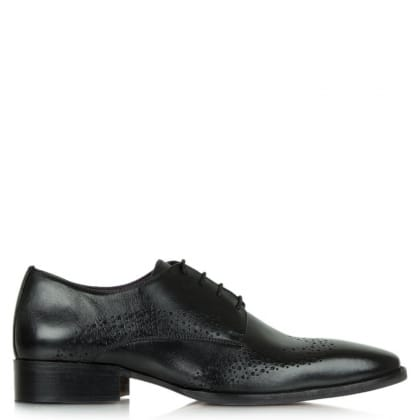 Daniel Gucinari Jay Jay 274 Black Leather Hole Punch Lace Up Shoe