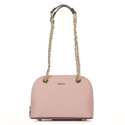 DKNY Camille Rose Leather Dome Chain Handle Bag