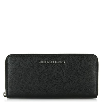 Michael Kors Bedford Continental Black Textured Leather Women's Wallet