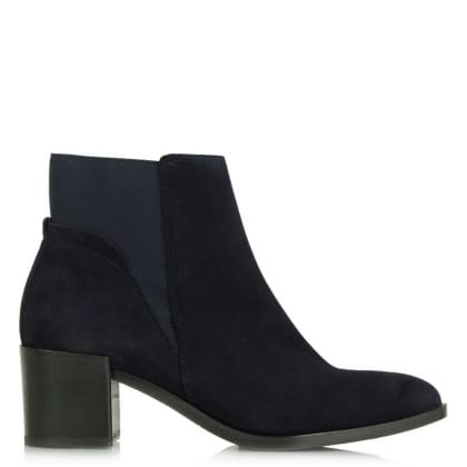 Kennel & Schmenger Lancer Navy Suede Chelsea Ankle Boot