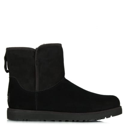 UGG® Australia Authorised Retailer Cory Black Suede Slim Line Boot