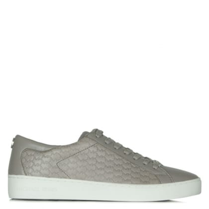 Michael Kors Colby Grey Leather Embossed Lace Up Trainer