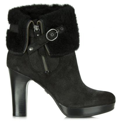 UGG Black Scarlett Women's Shearling Ankle Boot