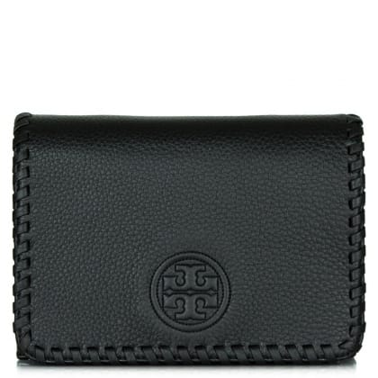 Tory Burch Marion Combo Black Leather Whipstitch Cross-Body Bag