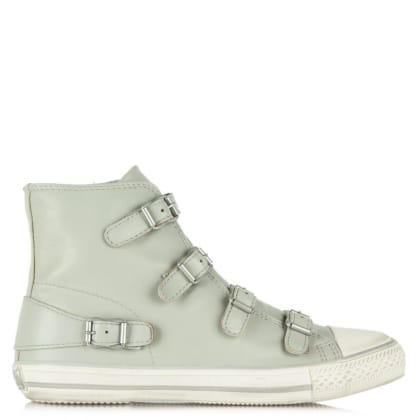 Ash Virgin Bis Marble Leather Buckled High Top Trainer