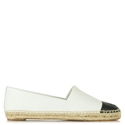 Tory Burch Colourblock White Leather Espadrille