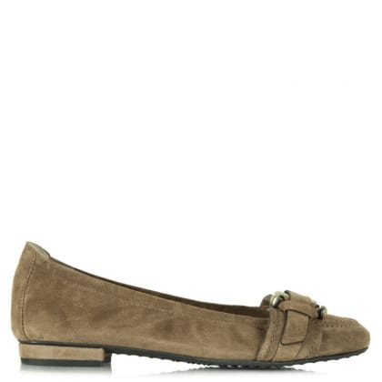 Kennel & Schmenger City Taupe Suede Buckle Toe Pump