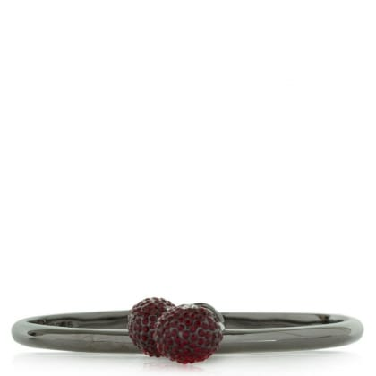 Marc Jacobs Cherry Pave Charm Red Hinged Cuff