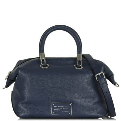 Marc By Marc Jacobs Too Hot To Handle Navy Leather Satchel